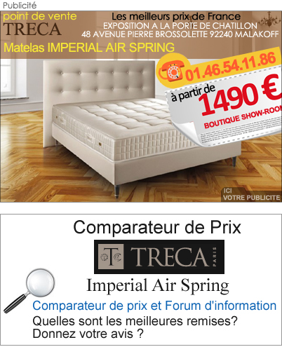 literie imperial air spring treca lexique et d finition. Black Bedroom Furniture Sets. Home Design Ideas