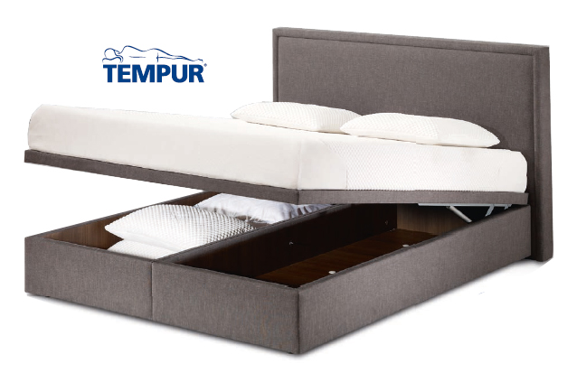 tempur sommier coffre prestige lit coffre le meilleur de l 39 achat. Black Bedroom Furniture Sets. Home Design Ideas