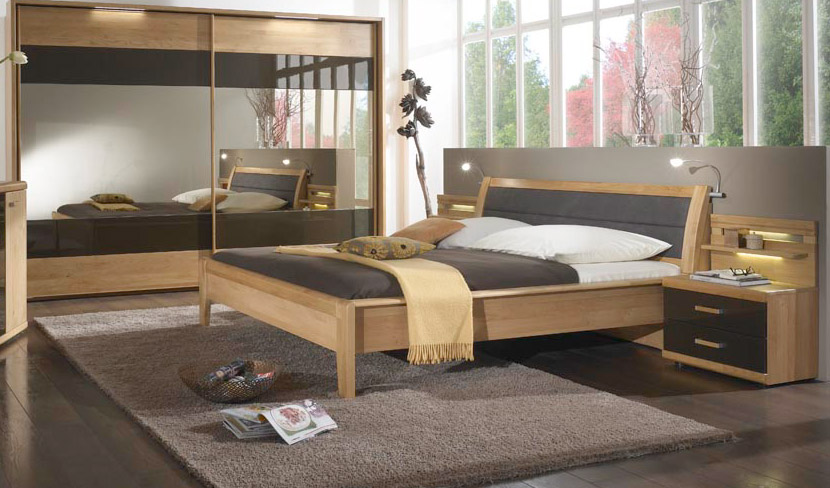 les lits en bois moderne. Black Bedroom Furniture Sets. Home Design Ideas